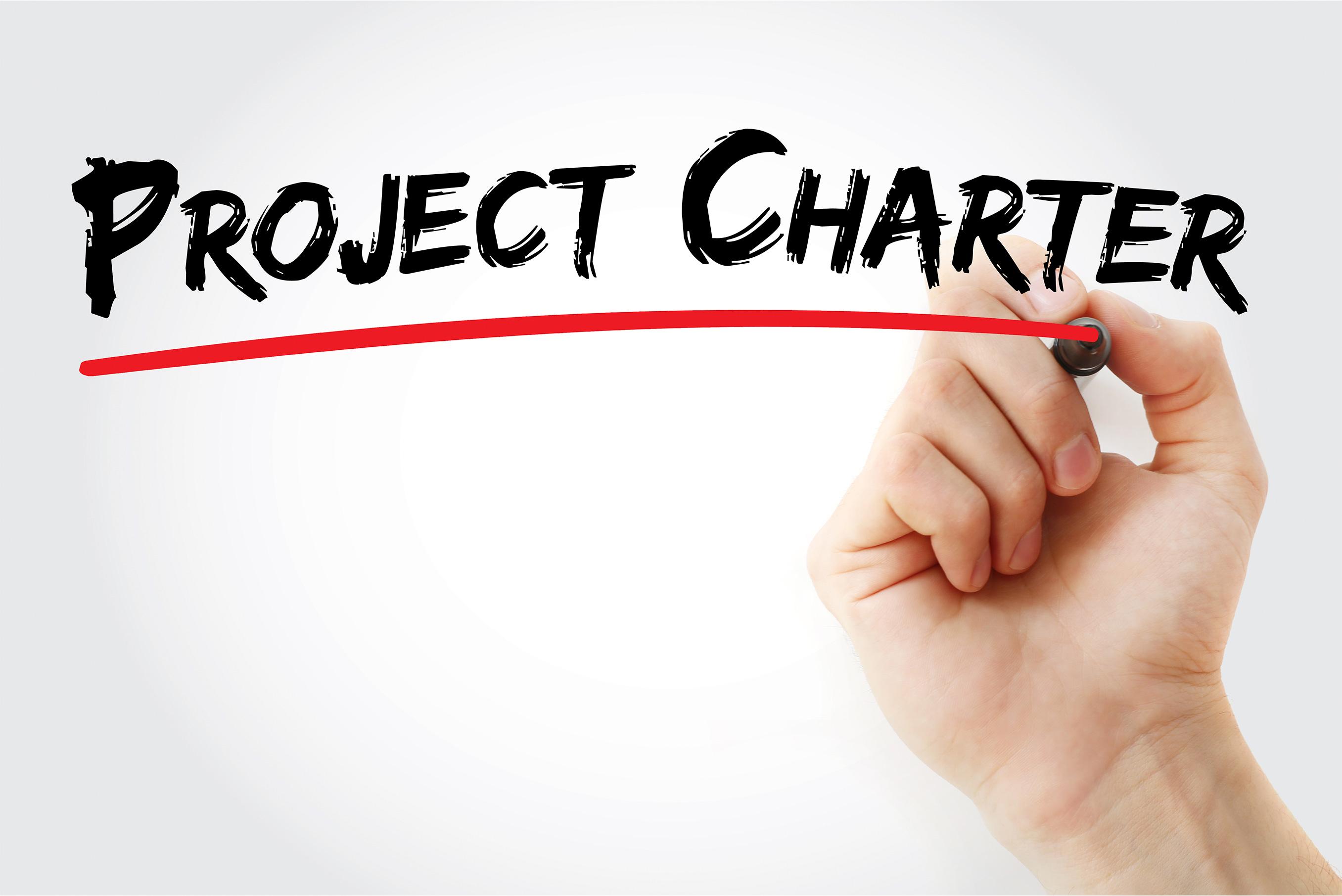 ¿Qué es un project charter en la administración de proyectos?